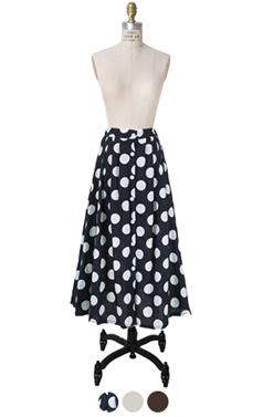 classic buttoney maxi skirt