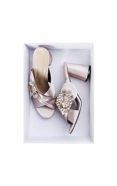 jewelled buckle mule