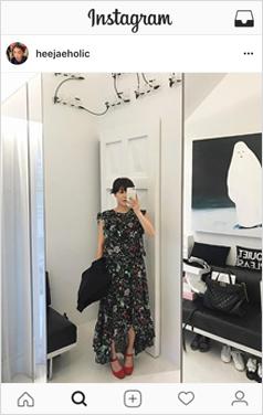 unbalance-hem floral maxi dress