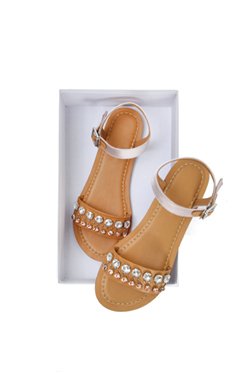 miuccia jeweled flat sandals