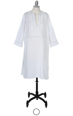 wellmade embroidery tunic