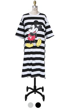 striped mickey dress