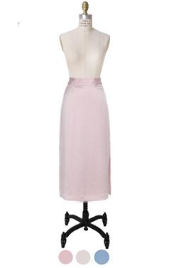 shiny long skirt