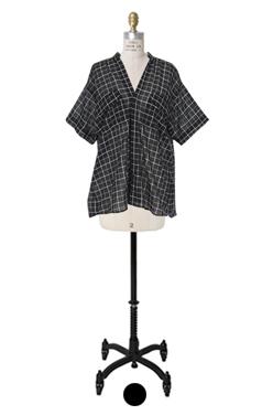plaid sheer-cotton shirts