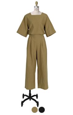 back-open linen jumpsuit