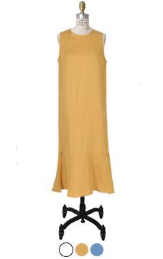 slimfit flared-hem dress