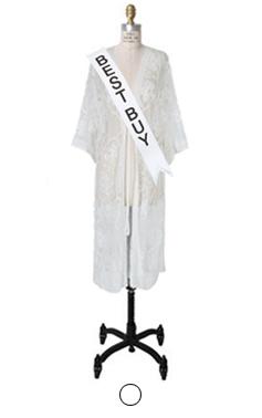croche lacy robe
