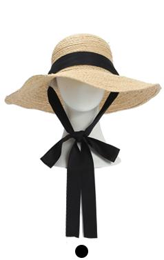 ribbon embellished raffia hat
