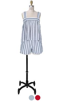 striped babydoll 2pcs