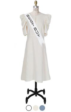 audrey linen-blended dress