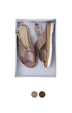 satin crossband sandals