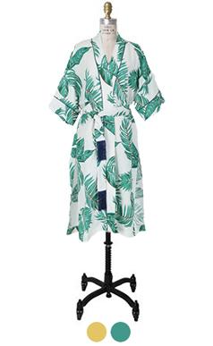 palm tree printed robe