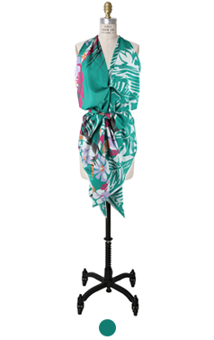 elegant scarf top