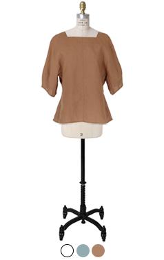 square-neck linen top