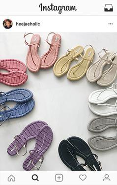 UTG faux-croc flipflop sandals
