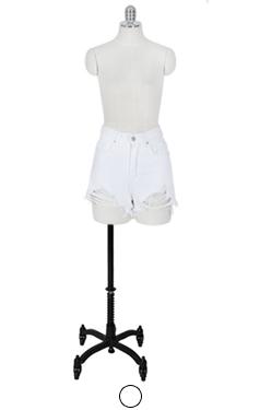 very short denim shorts